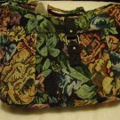 NICE SIZE TAPESTRY FABRIC PURSE WITH ADJUSTABLE HANDLES..LINED..GREAT MOM'S GIFT
