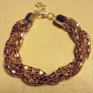 "LADIES/GIRLS GOLD TONE MESH  BRACELET ...APPROX SIZE 7"" TO 7 1/2"" ....."