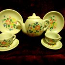 8 PC WHITE/FLORAL TEA SET.......NICE ACCENT