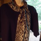 BEAUTIFUL LADIES/GIRLS LONG SCARF OF BLACK & WHITE MIXTURE..NICE SIZE