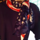 NICE LADIES/GIRLS RED, WHITE, BLUE/STARS (FLAG STYLE)  LONG SCARF....NICE SIZE