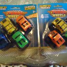 NEW TURBO WHEELS BRAND MONSTER TRUCKS.. 2 PACKS (8 TRUCKS) PULL BK & SEE IT GO