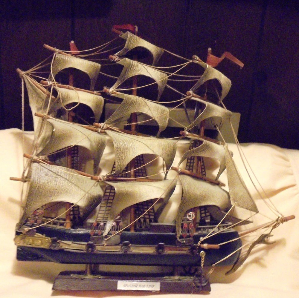 "SPANISH WAR SHIP MODEL...OLDER....APPROX 17"" X 15 1/2"" ..DELICATE...NICE ...."