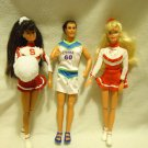 BARBIES, JOINTED-LOT OF FOUR- NICE MIXED VARIETY/ALL WITH CLOTHES & SHOES