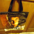 NICE & LARGE JUSTIN  BEIBER VINYL TOTE BAG...BLESSINGS..GREAT COLORS