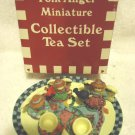 FOLK ANGEL MINATURE 8 PC COLLECTABLE TEA SET..GREAT COLORS....
