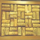 "FRAMED WINE CORK WALL ART MOSAIC BOARD..GREAT DISPLAY...10 1/2"" X 9""-1 1/2"" DEEP"