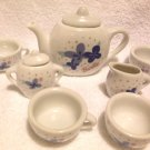 MATTEL BARBIE PORCELAIN TEA SET......NINE PIECES....SO CUTE