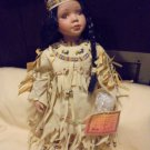 "NATIVE AMERICAN BEAUTIFUL DOLL IN NATIVE CLOTHING.....APPROX   17 1/2"" TALL"