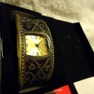 AVON  JET ACCENT CUFF WATCH  NEW ...BURNISHED BRASS CUFF....IN ORIGINAL BOX