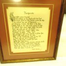 """FOOTPRINTS"" POEM FRAMED & MATTED WALL HANGING-10 1/2"" X 12""...NICE WOODEN FRAME"