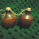"LITTLE CEDAR JUGS SALT & PEPPER SHAKERS FROM LINCOLN'S BIRTHPLACE..KY..2"" TALL"