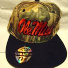 "CAMOUFLAGE/BLACK CAP ""OLE MISS"" LOGO...ADJUSTABLE....BY GOLDEN LION"