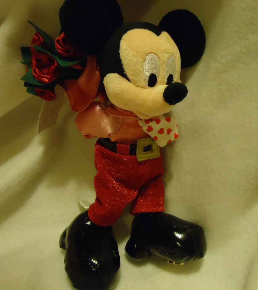 "DISNEY WORLD EXCLUSIVE...""HAPPY VALENTINE'S DAY""..MICKEY...ROSES BEHIND HIS BACK"