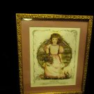 "FRAMED & MATTED ""SEPTEMBER ANGEL"" PICTURE BY ARTIST SUE SKEEN...APPROX 11"" X 12"""