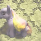 "MY LITTLE PONY...PURPLE WITH YELLOW/PINK/YELLOW....8"" TALL"