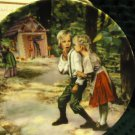 "GRIMMS FAIRY TALES ""HANSEL & GRETEL"" GERMAN COLLECTOR PLATE- 3RD IN SERIES/BOX/C"