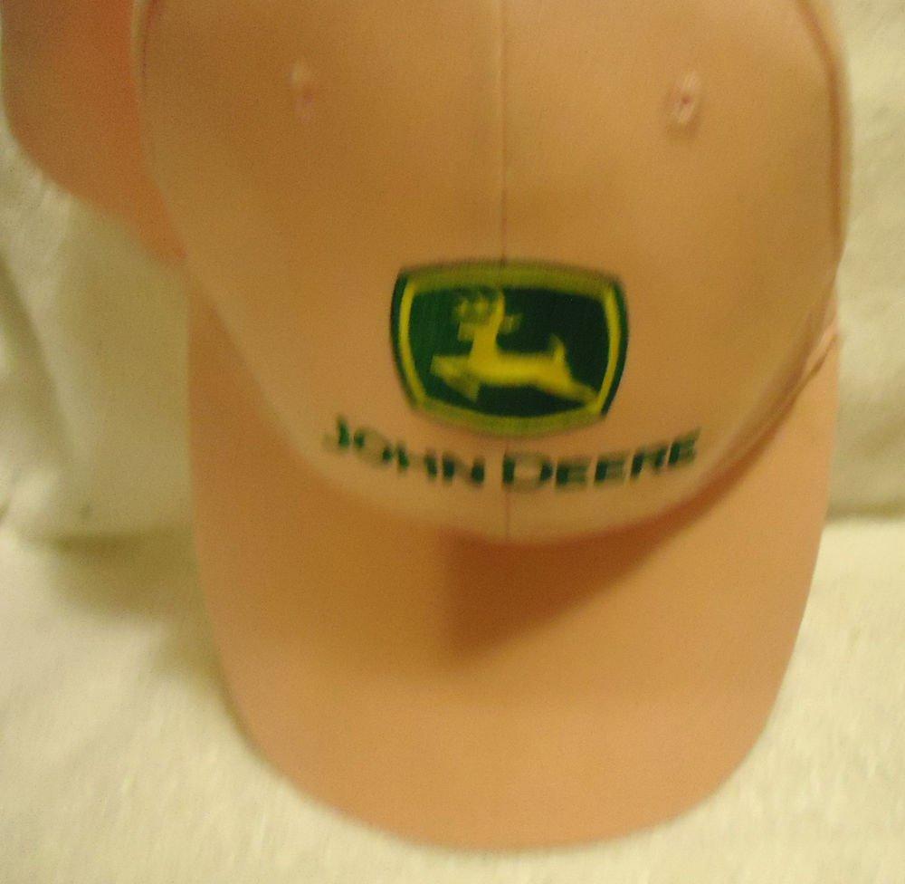 JOHN DEERE LADIES PINK CAP - NICE PINK...ADJUSTABLE BACK