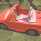 FISHER PRICE HOT PINK CONVERTIBLE MUSICAL CAR...HONKS HORN & PLAYS DIFF TUNES