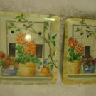 SET OF LIGHTSWITCH PLACE COVERS....ONE SINGE & ONE DOUBLE...NICE FLORAL DESIGN