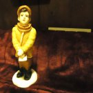 UNIVERSAL STATUARY CORP 1988 BOY CHRISTMAS CAROLER- #889..MADE IN USA...
