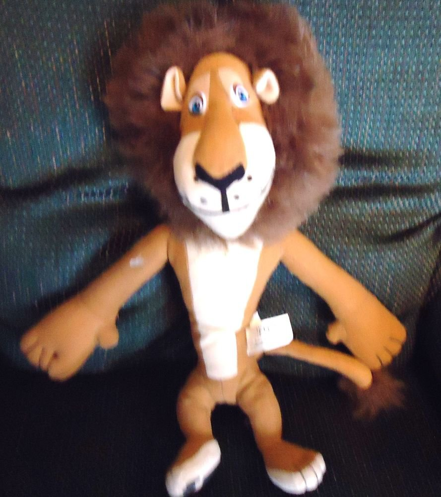 "ALEX THE LION FROM THE MOVIE Madagascar 13"" tall BY NANCO"