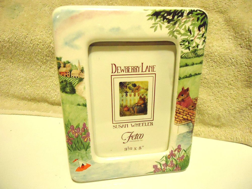 "BEAUTIFUL CERAMIC FLORAL/SCENIC ""DEWBERRY LANE"" BY SUSAN WHEELER & FETCO"