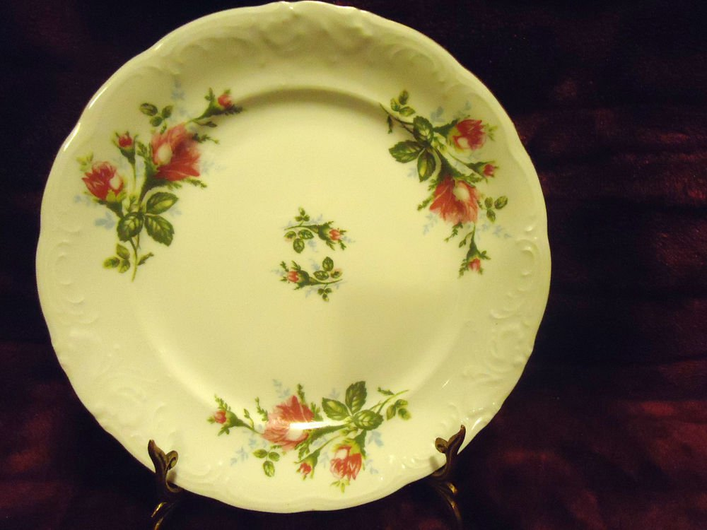 UNIQUE ROYAL KENT POLAND BAVARIAN ROSE BREAD/BUTTER PLATE .....GREAT CONDITION