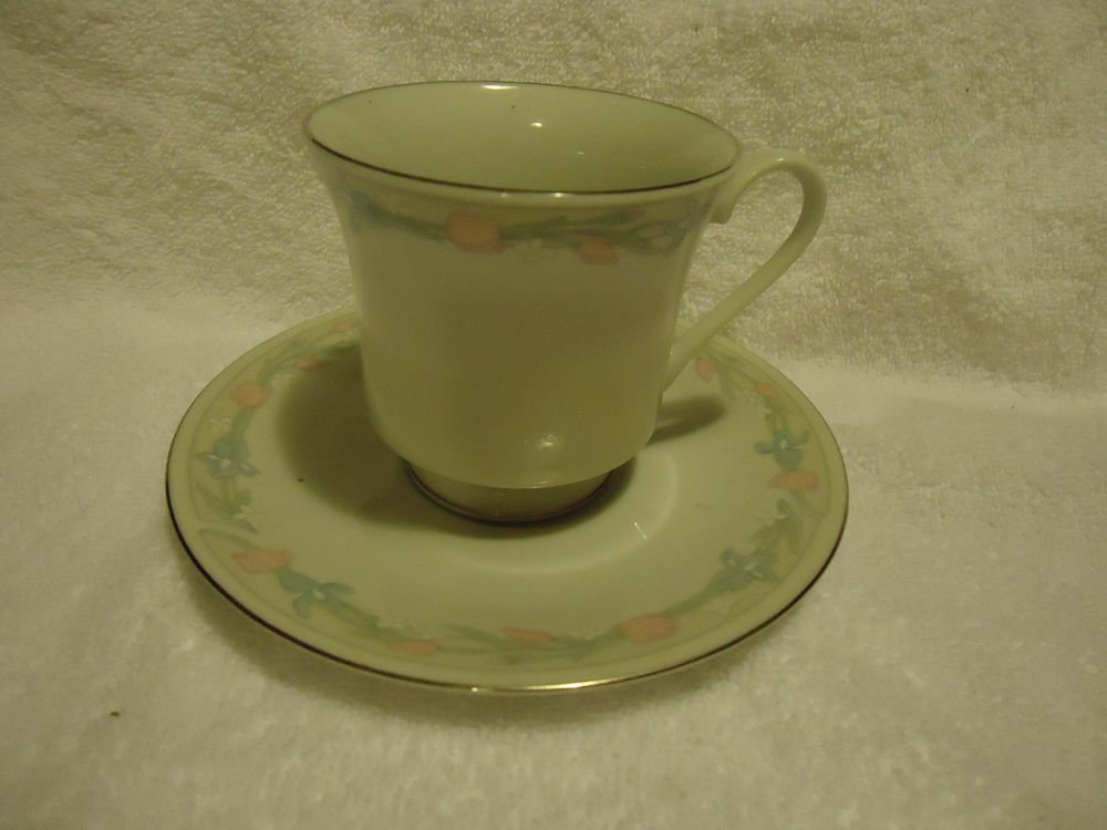 FOOTED CUP & SAUCER...ILLUSIONS BY EXCEL..