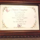 MUSICAL JEWELRY BOX WITH DAUGHTER POEM ON TOP OR COULD REPLACE WITH PHOTO