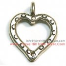 5 Small Printed Heart Charms 15mm by I Love Hill Tribe Silver