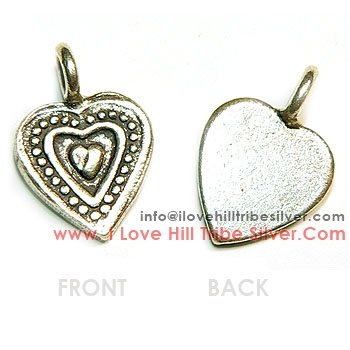 5 Triple Heart Charms By I Love Hill Tribe Silver