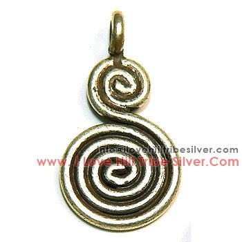 5 Double Swirls By I Love Hill Tribe Silver