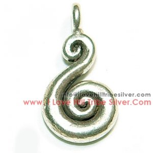 5 Small Swirl Charms By I Love Hill Tribe Silver