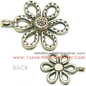 3 Flower Charms By I Love Hill Tribe Silver