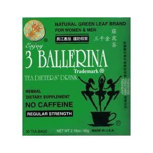 3 Ballerina Tea Dieters� Drink (Regular Strength) 24 Boxes (720 tea bags)