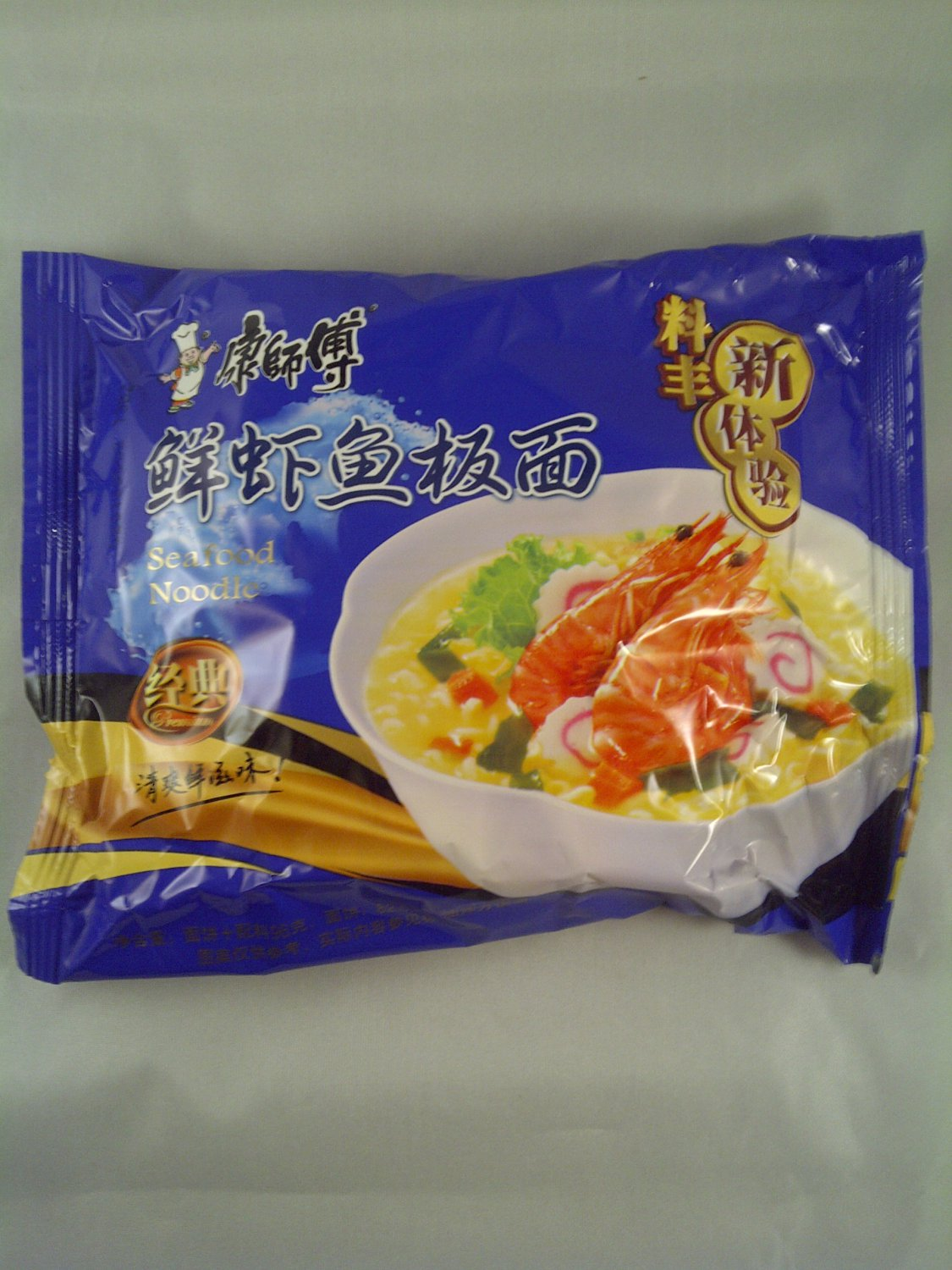 Kang Shifu Artificial Sea Food Flavor Instant Noodle 5 Packs NEW