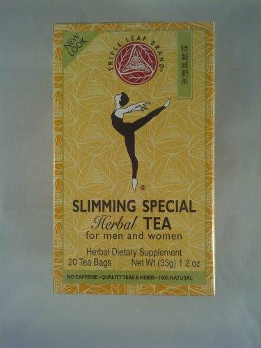 2 Boxes Triple Leaf Tea Slimming Special Herbal Tea 40 Tea Bags
