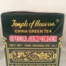 2 BOXES Temple Of Heaven China Green Tea Special Gunpowder 1000 Grams NEW