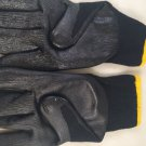 16 Pairs Black Latex Heavy Duty Premium Palm Coating Work Gloves sz large NEW