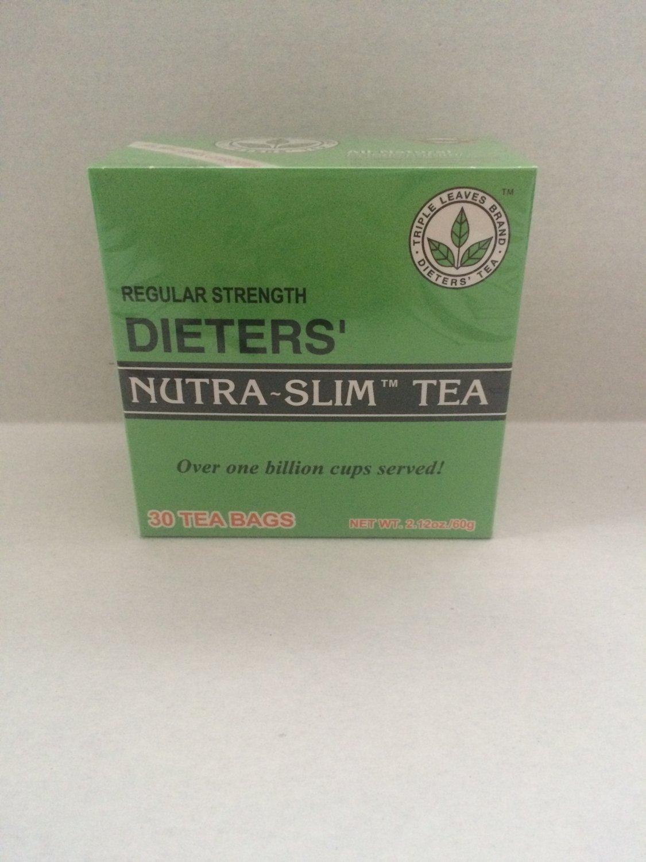 Regular Strength Dieters' Nutra-Slim Tea Triple Leaves Brand - 60 Tea Bags