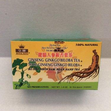 Royal King Ginseng Ginkgo Biloba Tea 40 Tea Bags