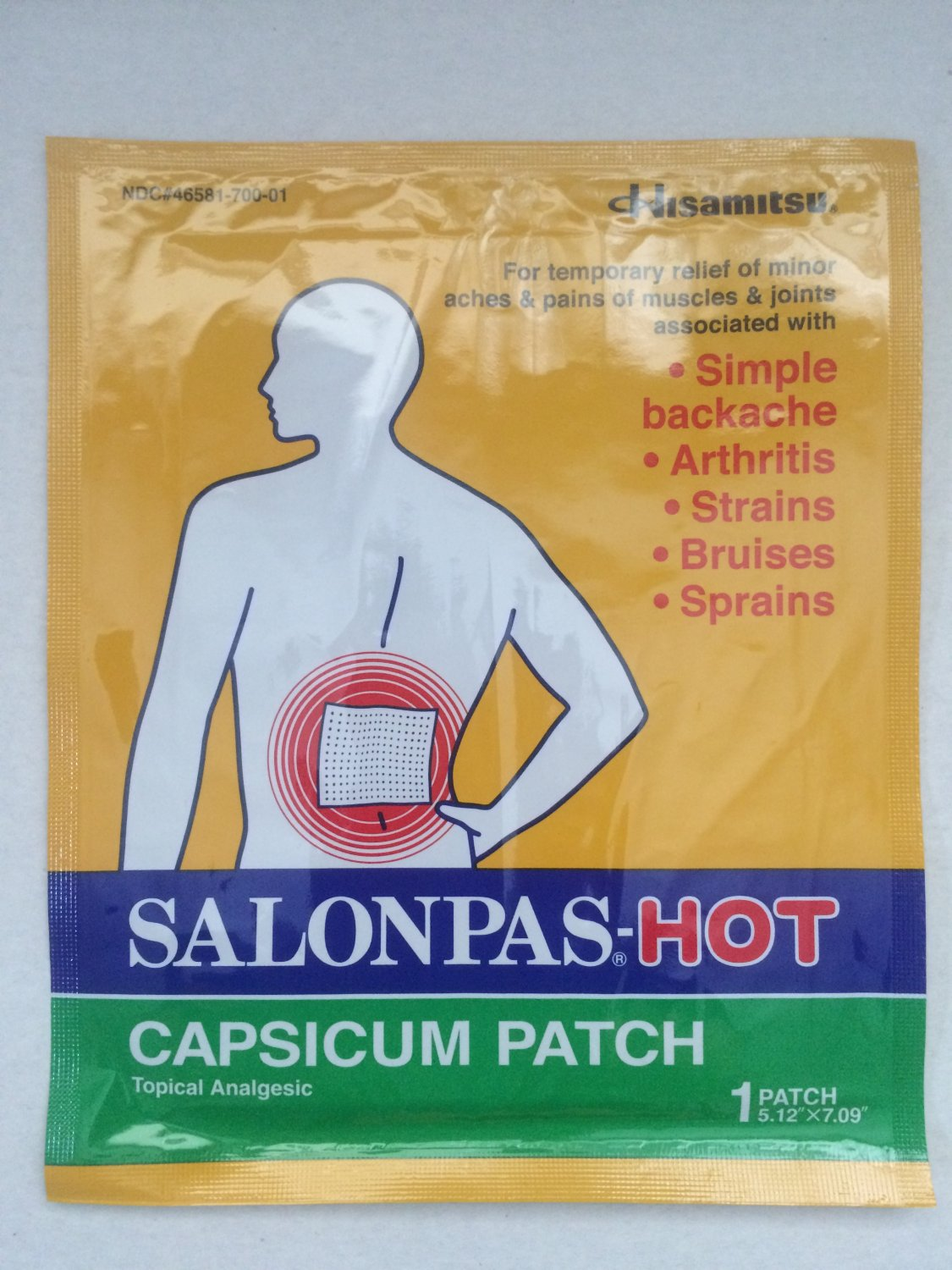 HISAMITSU Salonpas Hot Capsicum Patch, 50 Count