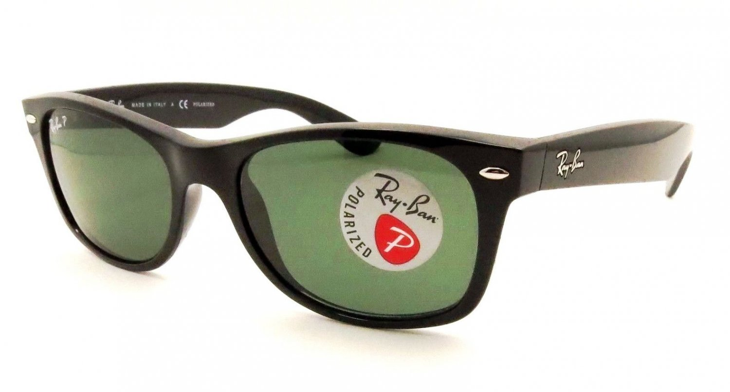 d649bffed6 Ray-Ban RB2132 901L New Wayfarer 55mm Black G-15 polarized Lens  Fashion  Sunglasses