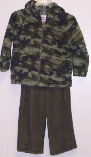 Boys Army Print Sweatsuit Size 18M