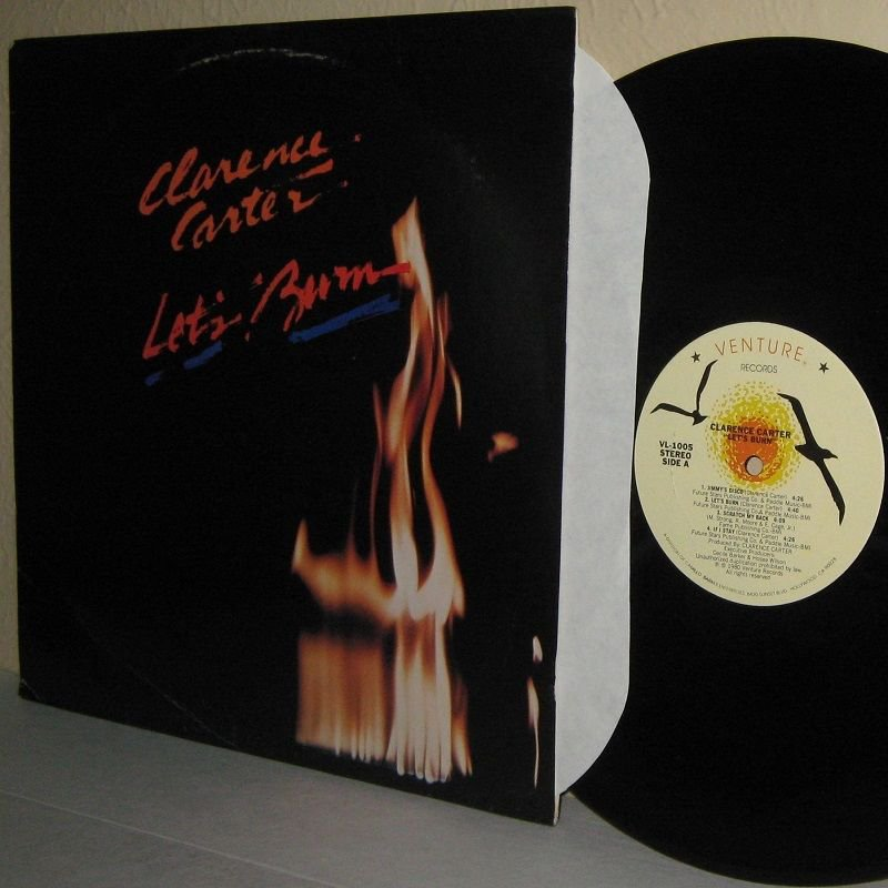 1980 CLARENCE CARTER LP Let's Burn VG+ Cover  / Near Mint Vinyl
