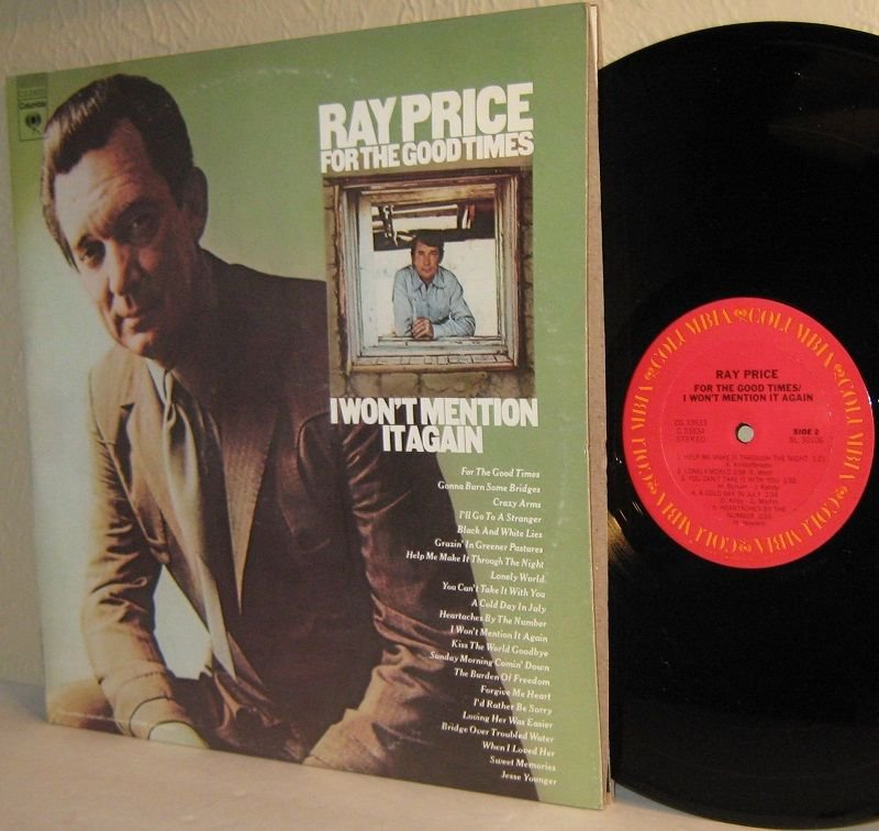 1975 RAY PRICE 2 LP Set For The Good Times / I Won't Mention It Again Ex / Ex