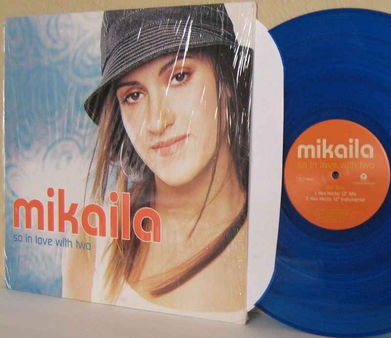"Y2K MIKAILA 12"" 33 rpm So In Love With Two MINT MINUS Shrinkwrap BLUE VINYL"