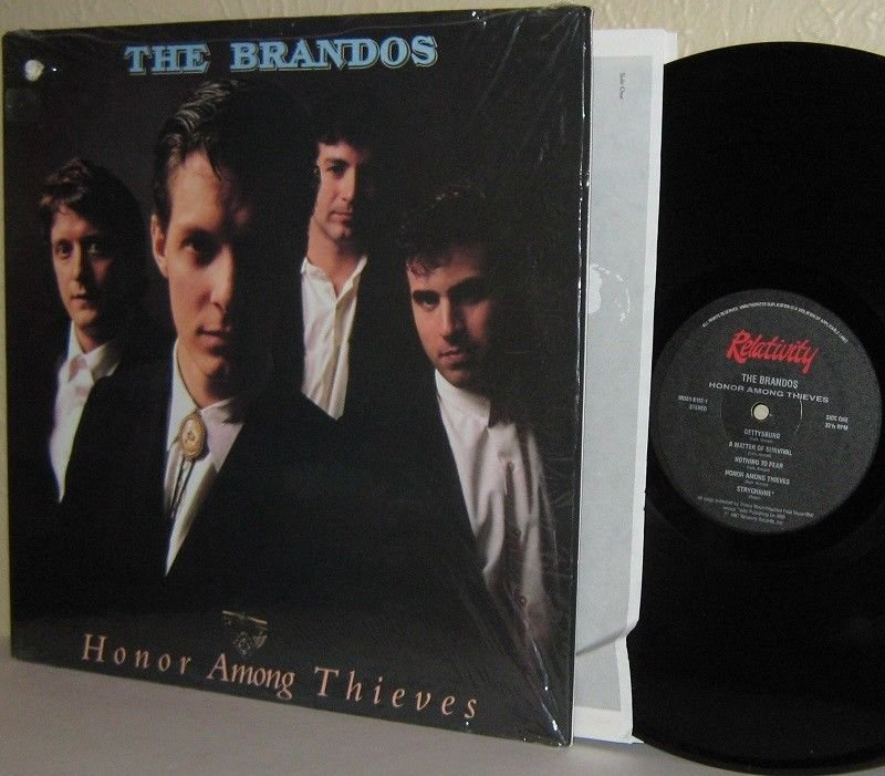 '87 THE BRANDOS LP Honor Among Thieves Ex / M- in Shrinkwrap - with Gettysburg
