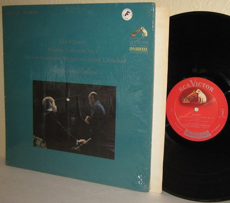 LSC-2724 VAN CLIBURN BRAHMS Concerto No.1 Boston SO LEINSDORF LP Ex/M-  Shrink